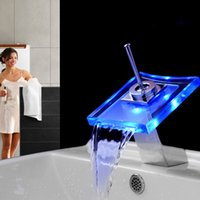 Cheap LED Led glass Faucet Best Chrome Ceramic Waterfall Faucet