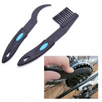 Wholesale 2pcs Bike Bicycle Cycling Chain Wheel Flywheel Clean Brush Crankset Cleaning Kit Cleaner Scrubber Tool Set