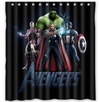 avengers curtains - 214 Hot Custom Avengers Fashion Home Living Waterproof Bathroom Nice Best Decor Shower Curtain x72 Inch U20000