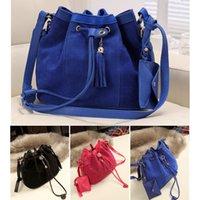 Wholesale New Fashion Vintage Women Girl Tassel Bucket Bag Top Quality Drawstring Crossbody Messenger Shoulder Bag bolsas femininas H11838
