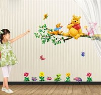 winnie the pooh - Lovely Winnie The Pooh Flowers Wall Decals Sticker Decor PVC Removable Kids Nursery