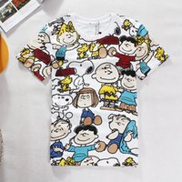 Men Short Sleeve EL Flashing European and American Graffiti Tide brand cartoon Snoopy T-shirt men and women casual fashion lovers summer school clothes