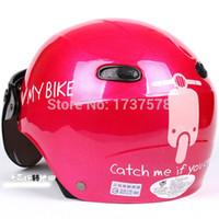 "Cheap Wholesale-D.13 Free Shipping Taiwan "" EVO "" ABS 1 2 Half Helmet Ultralight Scooter Motocycle "" Moto MY BIKE "" Rose"