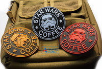 badge military - StarBucks PVC D Velcro Tactical Patch Rubber StarWars Badge Military Patches Combat Armband