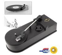Wholesale USB Portable Mini Phonograph RPM Turntable Vinyl Record Player Converts Turntables Vinyl LP Audio to MP3 WAV CD USB to PC