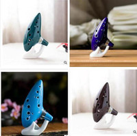 Wholesale Classical Musical Instrument Ceramic Ocarina Hole Kiln fired Ceramic Alto C Legend of Zelda Ocarina Flute with bag free shippiing