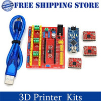 Cheap 3D Printer Kit V4 Engraving Machine Expansion Board + Stepper Motor Drive Set for Arduino