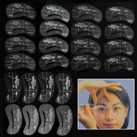 Wholesale Hot Selling Eyebrow Stencil Tool Makeup Styles Eye Brow Template Shaper Make Up Tool