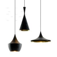 Modern bedroom lamp sets - tom dixon Beat Light set Tall Fat Wide lamps Pendant Lamp Ceiling Light suspension lighting Chandelier living room dinning room