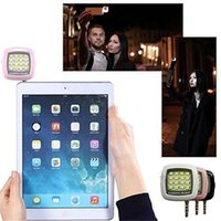 apples leds - New Coming Mini Portable Selfie Flash Light LEDS for phone Flash Fill Light Match With Selfie Stick For iPhone s plus for samsung