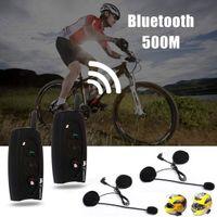 Wholesale 2 x Motorcycle m Bluetooth Intercom Wireless Headset Bluetooth Interphone MOT_50E