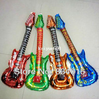 baby guitar toy - Hot sales guitar balloons children s toys baby gifts birthday party decorations concerts
