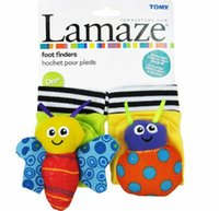 bee packages - 2015 New arrival baby rattle baby Plush toys Lamaze Garden ladybug bee Bug Wrist Rattle with card retail package set
