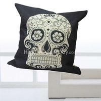 Cheap Vintage White Skull Cushion Bed Car Sofa Throw Pillow Case Cover Room Home Decor