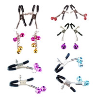 Wholesale 1 Pair Women Flirt Bondage Sex Toys Nipple Clamps Breast Adornment Bell Clip Non Piercing Adult Sex Products YQ5015 kevinstyle