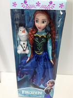 "PVC Action Figures frozen New 11.5inch Frozen Musical Doll Anna and Princess Elsa with Olaf with music ""let it go "" Best Music Toys For kids baby girls"