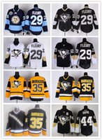 jersey shop - Pittsburgh Cheap Hockey Jerseys Penguins Fleury Barrasso Orpik yellow white black drop shopping freeshipping