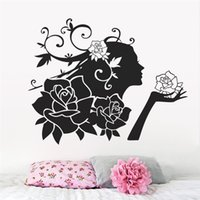 angels poster - Hot diy Stylish Flower Angel PVC Removable Wall Sticker Room Decal Art Home fashion Home Decor wall poster