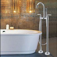 bathtub legs - And Retail Floor Mounted Free Standing Chrome Bathtub Mixer Tap Faucet W Hand Shower Legs
