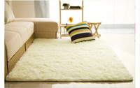 Shaggy plush carpet - 10 Colors mm mm Long Plush Shaggy Soft Carpet Area Rug Slip Resistant Door Floor Mat For Bedroom Living Room