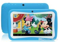 Wholesale Kids Cartoon Tablet PC quot RK3126 Quad Core Educational Apps Kids Mode Android Dual Cam Wifi Capacitive screen