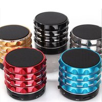 audio led indicator - S18 Bluetooth Speakers MIC TF Slot LED Indicator Multi function Super Bass Metal Speaker Box For Outdoor Sports DHL Free MIS077