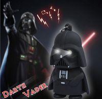 Wholesale Star Wars Toy Christmas gifts Darth Vader Keychain Accessories LED Luminous Music light sound keyring Creative Chain Key flashlight Pendant
