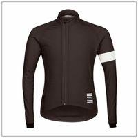 Wholesale Hot New Rapha Jerseys Black Long Sleeves Rapha Cycling Jerseys Winter Cycling Shirts Thermal Fleece Bike Wear Comfortable Breathable