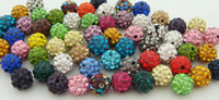 balls handcrafted - hot selling mixes Fashion Shambhala Disco clay CZ Zircon ball for Crystal bead charm bead accessories Handcrafted mm