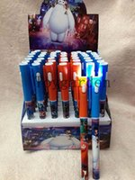 Wholesale set Big Hero Led Touch Light Pen Office School Supplies Stationery Ballpoint Pen For Best Gifts