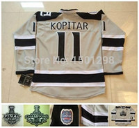 ashes series - 2016 Los Angeles Kings Stadium Series Jerseys Anze Kopitar Hockey Jersey Silver Ash Grey Cheap LA Kings Anze Kopitar Jerseys