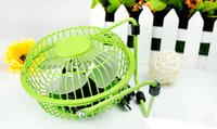 Wholesale 2015 hot selling USB mini fan aluminum USB small fan wrought iron fan table usb fan