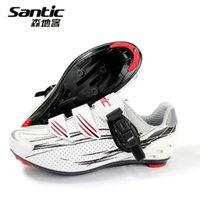 cycling shoes - SANTIC Bargain Price Men Athletic MTB Bicycle Profession Cycling Shoes Cycling MTB Mountain Road Bike Auto Lock Shoes Sneakers