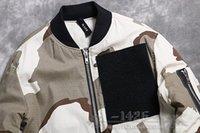 american west air - Fall new KANYE WEST YEEZUS American high street baseball uniform pilots Kanye ADYN Air Force desert camouflage jacket MA1