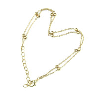 Wholesale New arrival Sexy Gold Barefoot Beach Fashion Double Chain Foot Chain Anklet Bracelet Jewelry