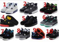 china shoes children - 2015 Newest kids Retro IV china jordan For Children s Basketball Shoes J4 Retro barons kids Basketball Shoes Sports Sneakers Free eur28