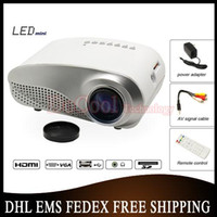 Wholesale 20pcs Small Size Portable LED Projector Cheap Price HDMI TV Tuner Video Proyector Home Used Movie Beamer