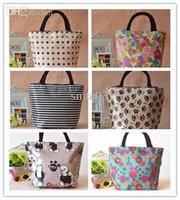 aluminum tote boxes - Fashion girl Bags Small Cloth Handbag Lunch Box Canvas Tote Small Bag hot casual cosmetic bag