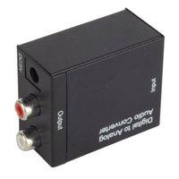 Wholesale New FNRP Digital Optical Coaxial to Analog RCA Audio Converter US Or EU plug F1743 W0