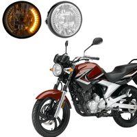 Wholesale News Motorcycle LED Headlight Front Light For Harley Motorcycle yellow lightingYKS