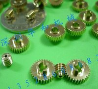 Wholesale Diameter mm Minimum M T copper worm gear worm rod miniature combination Electric motors remote control model