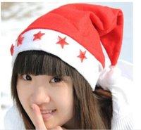 Wholesale Christmas LED flashing light Santa Claus Cap Soft Red Christmas Hat Christmas Christmas Gifts Christmas ornaments H441