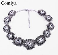 Wholesale Luxuries European chokers necklaces collares etnicos hot selling statement accessories women necklace rhinestone mosaic jewelry