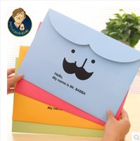 Wholesale Creative lovely become warped beard file The cartoon waterproof folder stationery