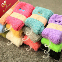Wholesale 3306 Colorful Warm Fuzzy Socks for Christmas Socks with Beautiful Embroidery Design for Ladies