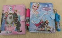Wholesale Cartoon Anna Elsa Offics School Supplies Children Stationery Books With Pen Baby Note Books papers Book cm L0811