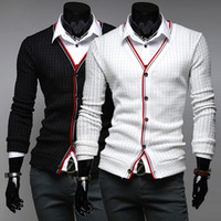 Wholesale mens sweaters GTIME New brand Autumn winter Cotton V neck Knitted cardigan men Casual slim fit pull homme Size M XXL