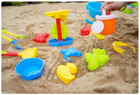Wholesale Play sand Beach toy child Mold Spade Tiny tool doll Play Sand Bucket Large Toddler Cute plastic set hourglass play house toys kids gift
