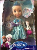 Wholesale FROZEN ELSA SNOW GLOW DOLL PRINCESS ACTUAL PICTURE MUSICAL SINGING TALKING LET IT GO with LED light FREE FEDEX DHL