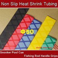 Wholesale 50mm Non Slip Textured Heat Shrink Tubing Fishing Rod Handle Grips Black Meter